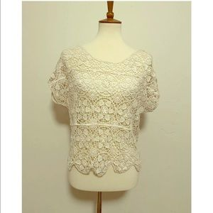 ModCloth Crochet Crop Top Size Small